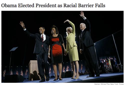 NY Times Headline, November 5, 2008